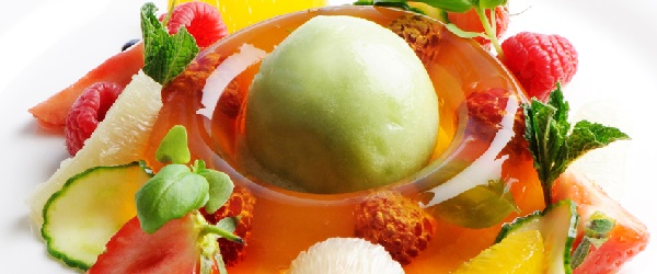 Chefs Recipe of the Week is Pimm's jelly with cucumber sorbet, by Josh Eggleton