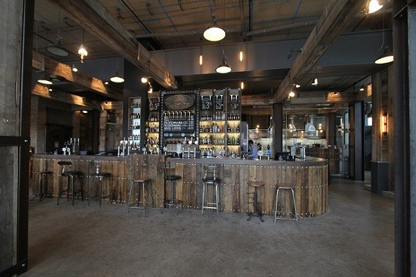 bringing industrial feel to a modern manchester bar