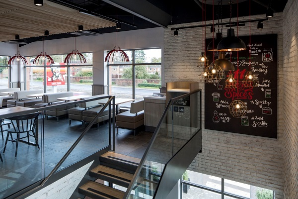 Kfc unveils dramatic new concept store design hospitality catering news Kitchen design shops exeter