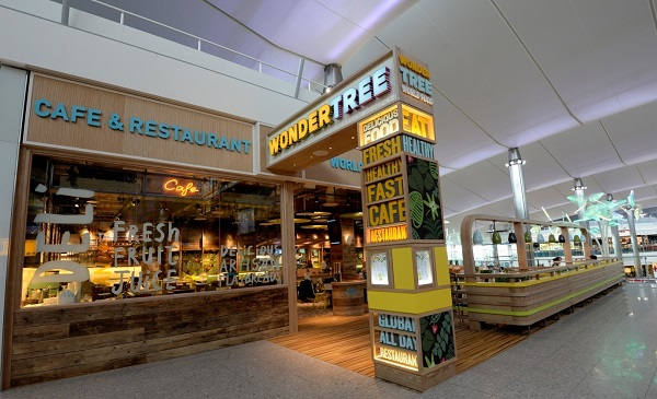 Gatwick gets fresh with new wondertree restaurant for Food bar giraffe