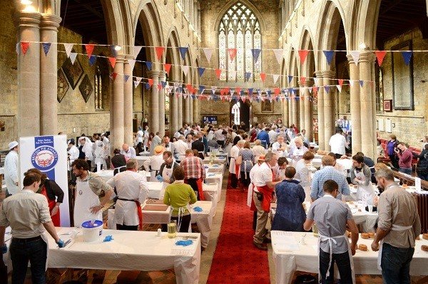 Pie makers prepare entries for the British Pie Awards 2015