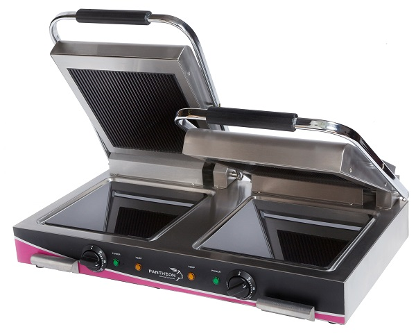 Pantheon's CCG2R Double Ribbed Top Ceramic Contact Grill (1)