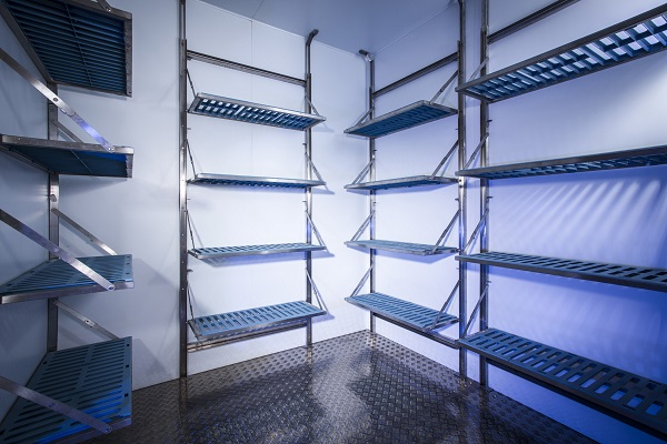 ISD Cold Storage shelving units.