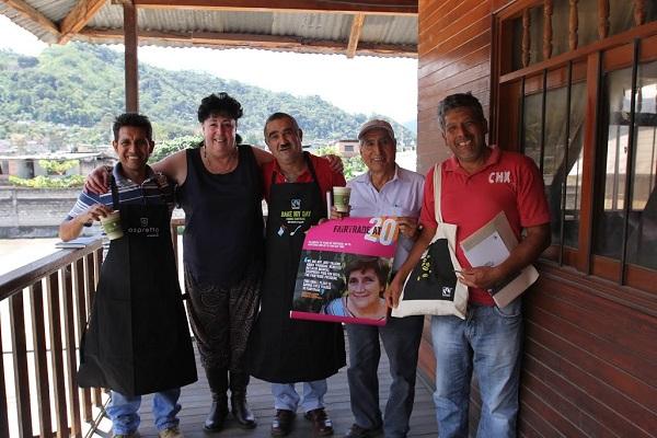 Fairtrade Fortnight - Kim with farmers