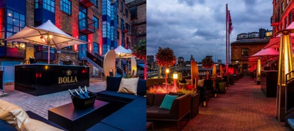 Now open Terrazza on the Thames at Columbia, Docklands 9