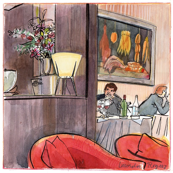 Lucinda Rogers to Exhibit at L'Escargot - Restaurant Drawings Historic and Contemporary 3
