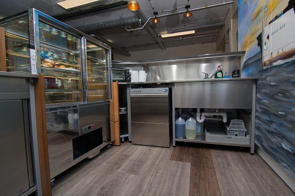Qed Supplies Modular Kitchen And Coffee Shop For Company S New European Hq Hospitality