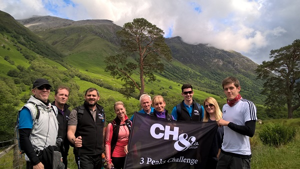 CH&Co Group's Procurement Team conquers the Three Peaks Challenge for Hospitality Action and Springboard