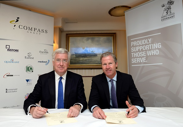 Compass Group UK & Ireland signs Armed Forces Covenant