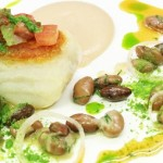 Image of the Week – Roast cod with white bean puree, parsley and tomato