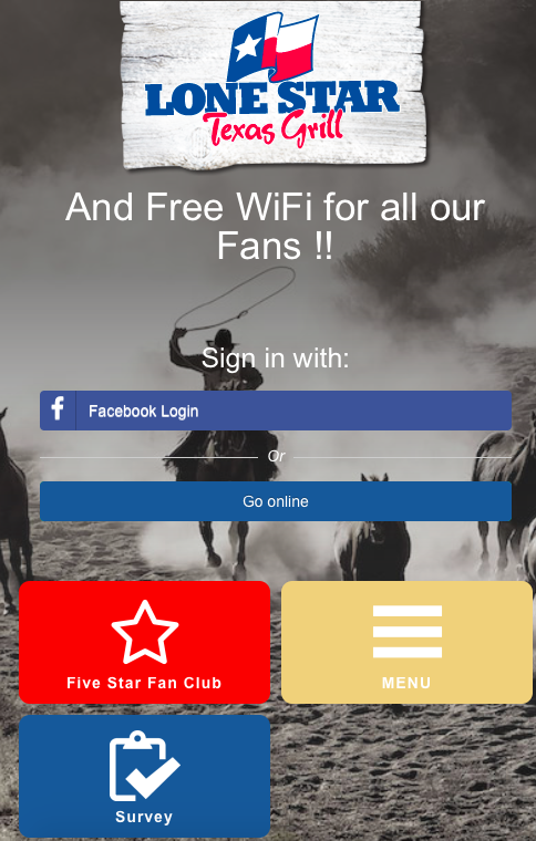 Lone Star Texas Grill sizzles with guest Wi-Fi success