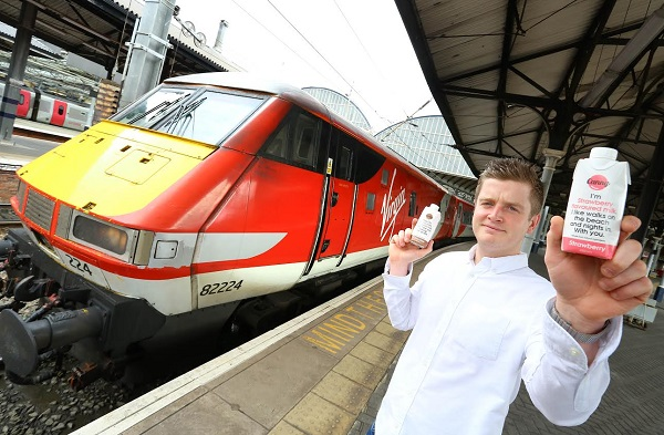 virgin trains adds sparkle to onboard food bar and