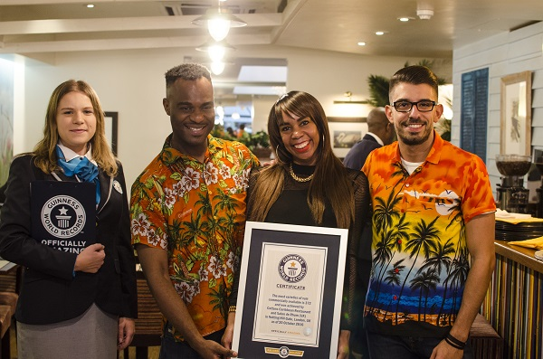 Cottons Guinness World Records title and launch of cocktail training school