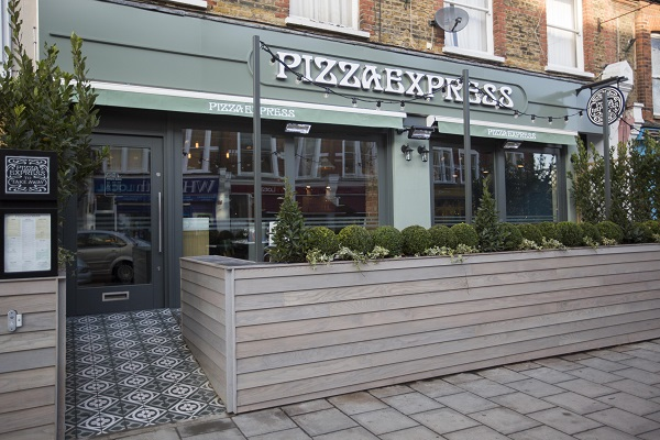 Opening of the Abbeville Road Pizza Express in Clapham Common, South London.