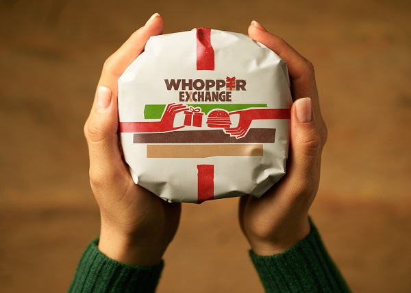 Burger King exchanges unwanted Christmas gifts for Whopper sandwiches