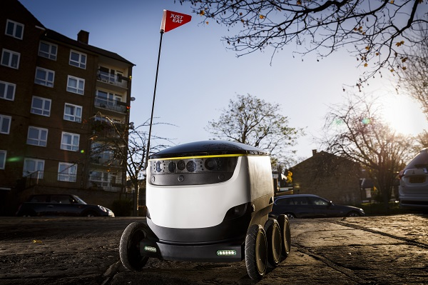 Just Eat and Starship Technologies deliver world's first takeaway meal by a robot 1