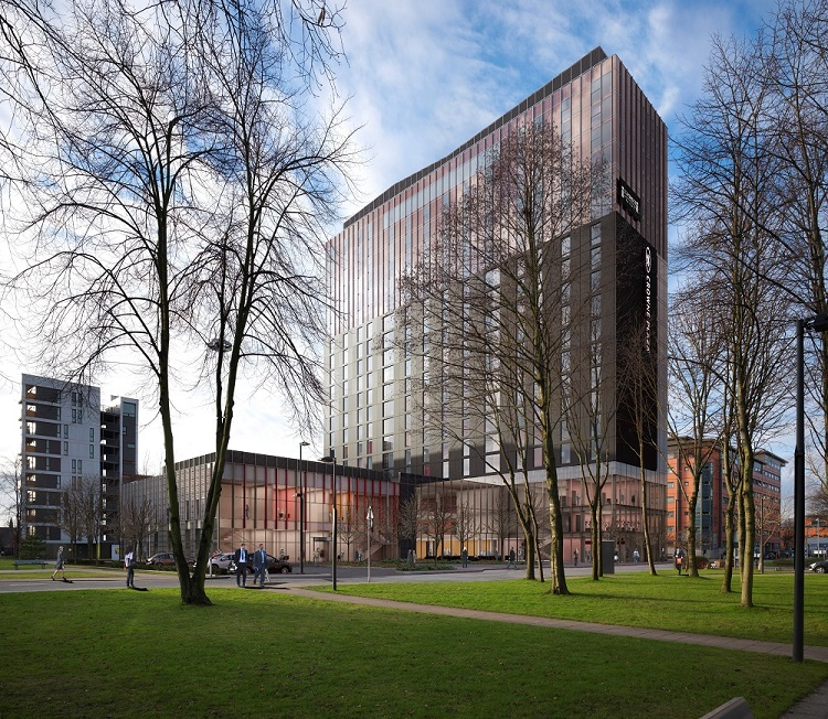 Topping out at university of manchester s 1 billion for Campus suite franchise