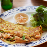 Vietnamese kitchen announce flipping special pancake