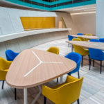In-house cafe features curved Armourcoat 'KonCrete'
