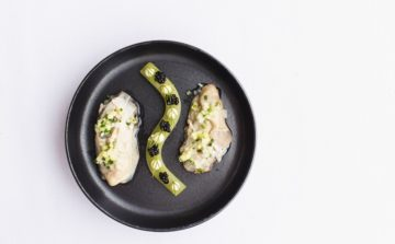 Poached Jersey Oysters with Oyster Velouté Recipe Steve Smith @ Michelin Star Bohemia