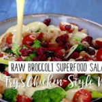 Vegetarian Foodservice Recipe: Raw Broccoli Superfood Salad