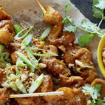 Vegetarian Foodservice Recipe: Chicken-Style Skewers with Peanut Satay