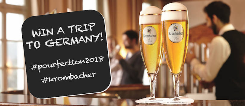 krombacher launches pourfection2018 hospitality catering news. Black Bedroom Furniture Sets. Home Design Ideas