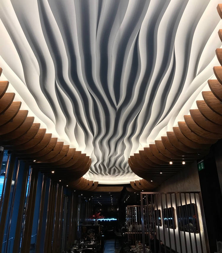 Sculptural Statement At New Haz Restaurant  Hospitality  Catering News