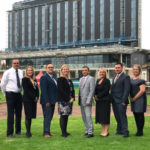 Senior team checks in at Doncaster Racecourse hotel