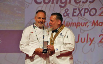 Welsh chefs' leader awarded prestigious medal at Worldchefs Congress