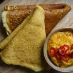 Chilli, Yoghurt and Squash Dip, with Socca Pancakes Recipe by Steve Groves