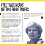 Wetherspoon poster campaign calls on the Prime Minister to get rid of tariffs post-Brexit