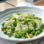 Danilo Cortellini's '3 cereali' salad with peas, broad beans, chickpeas and pecorino cheese