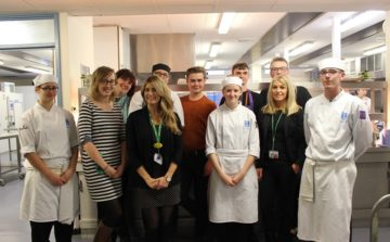 Head and neck cancer patients helped with their care and cooking by future chefs