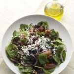 Baby spinach, date, feta and black rice salad, by Danilo Cortellini