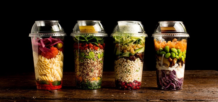 Salad Shake Pots Grazing caterer
