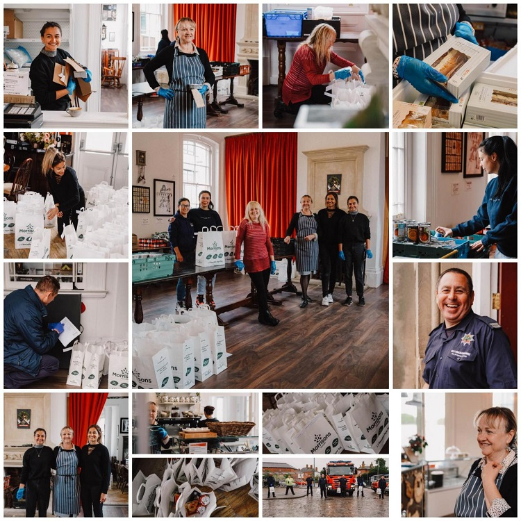 Fire brigade helps community café on delivery after foodservice bolsters production