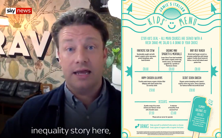Jamie Oliver backs Boris' obesity campaign talking the talk, but not walking the walk