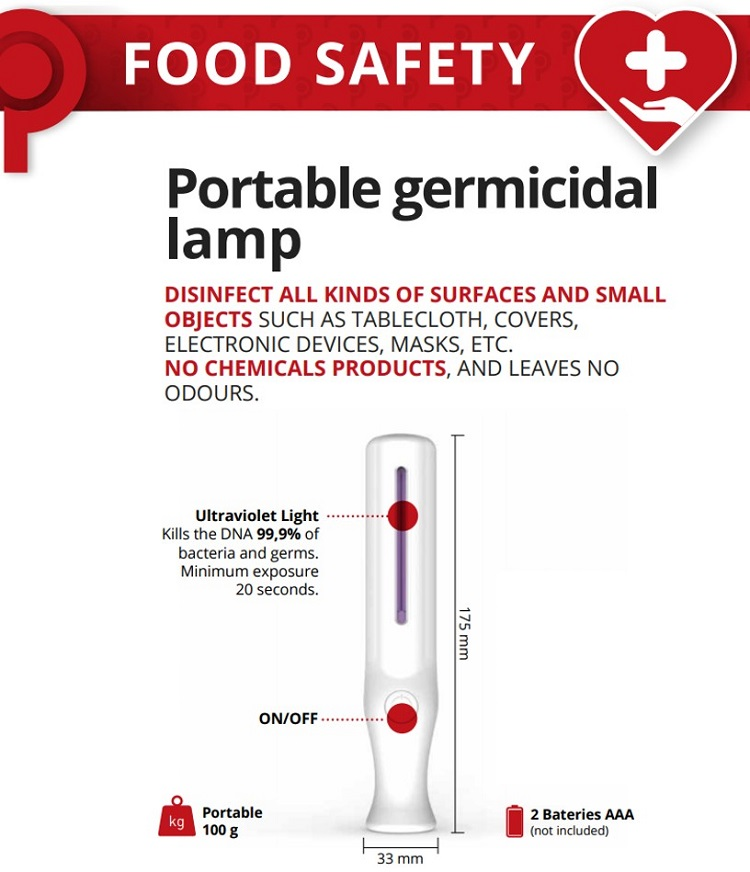 Portable UV Light Germicidal Pen disinfects small areas and surfaces