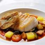 Fish on Friday, Cod with bouillabaisse sauce by Stephen Crane