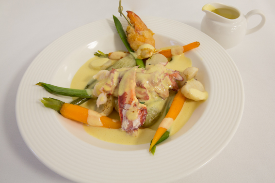 Our Essential Recipe of the Week, Butter Poached Muncaster lobster,Tempura claw, spring ...