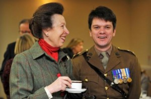 Lt Col Ben Wrench with HRH The Princess Royal