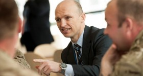 Matt Dawson celebrates PAYD launch by MOD and Sodexo
