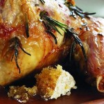 Roast leg of lamb with honeycomb and minted Jersey Royals – Shaun Rankin