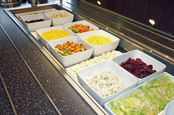 Salads at Stonyhurst College are now top of the menu.