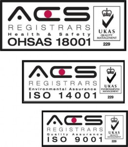 first to achieve ISO 9001, 14001 AND 18001 Serviceline