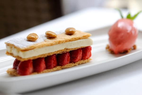 Strawberry Millefeuille by Stephen Crane