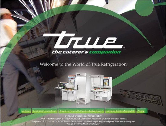 Visit the new True Refrigeration website to win an iPad2