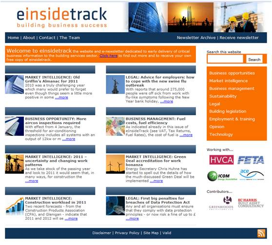 building services information from einsidetrack